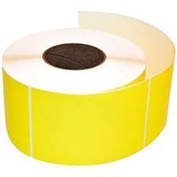 Picture of Fluro Yellow 101mm x 149mm 76mm core 1 across Label 1,000per roll