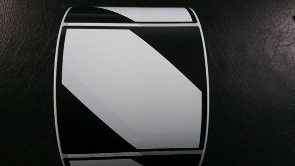 Picture of Gloss 100mm x 98mm BC 1AC Black Dangerous Logo 1,000 per roll